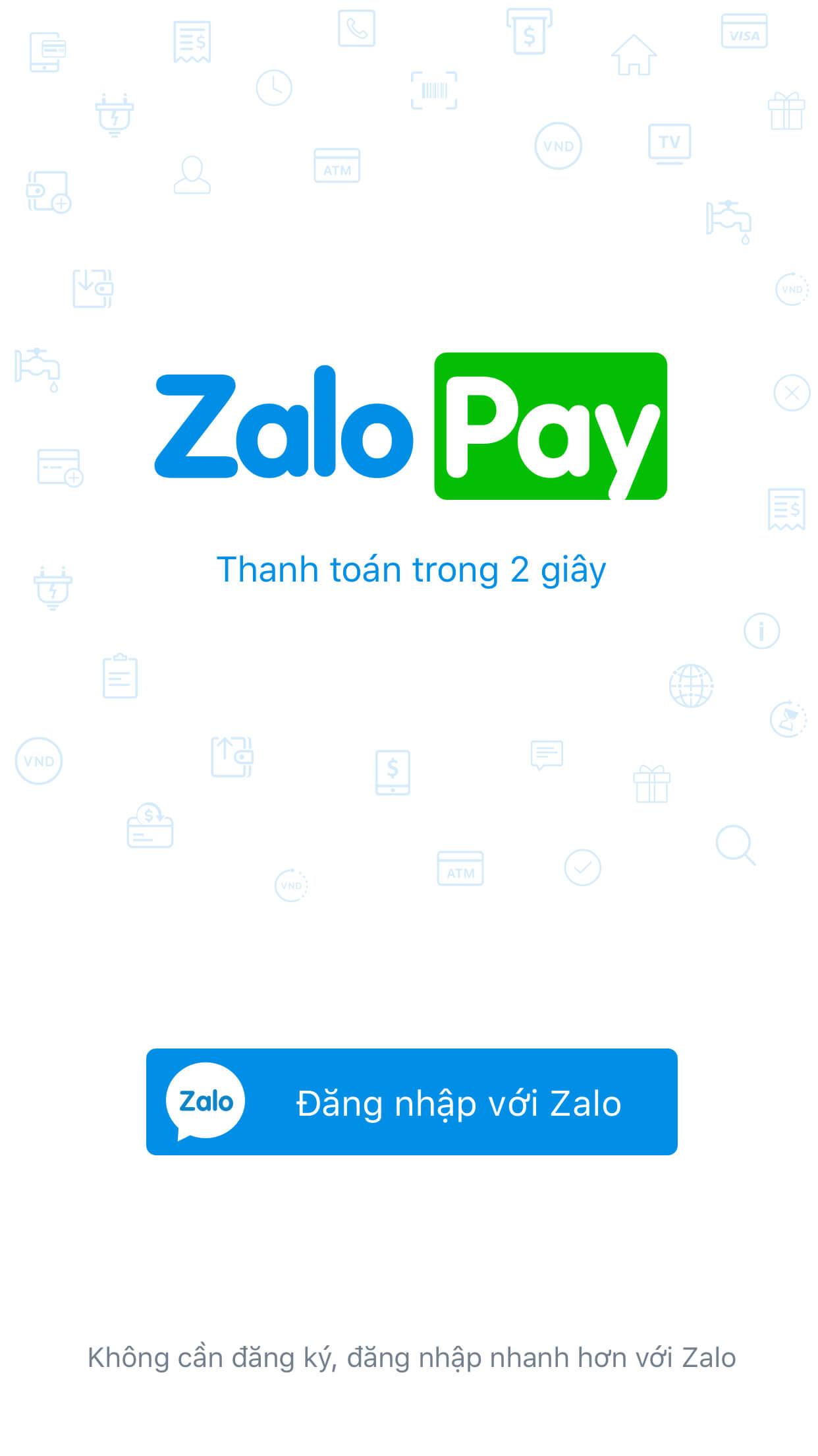 Quản lý tài khoản ZaloPay